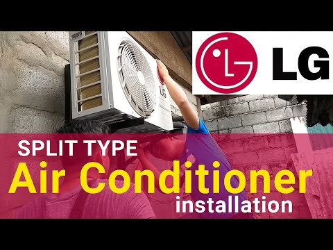 Split Type Aircon Installation LG Dual Inverter