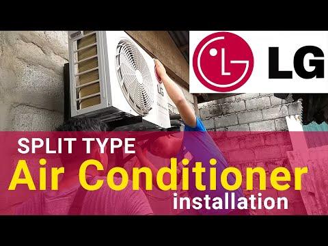 Split Type Aircon Installation LG Dual Inverter 2019