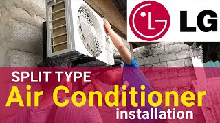 Split Type Aircon (Air Conditioner) Installation LG Dual Inverter