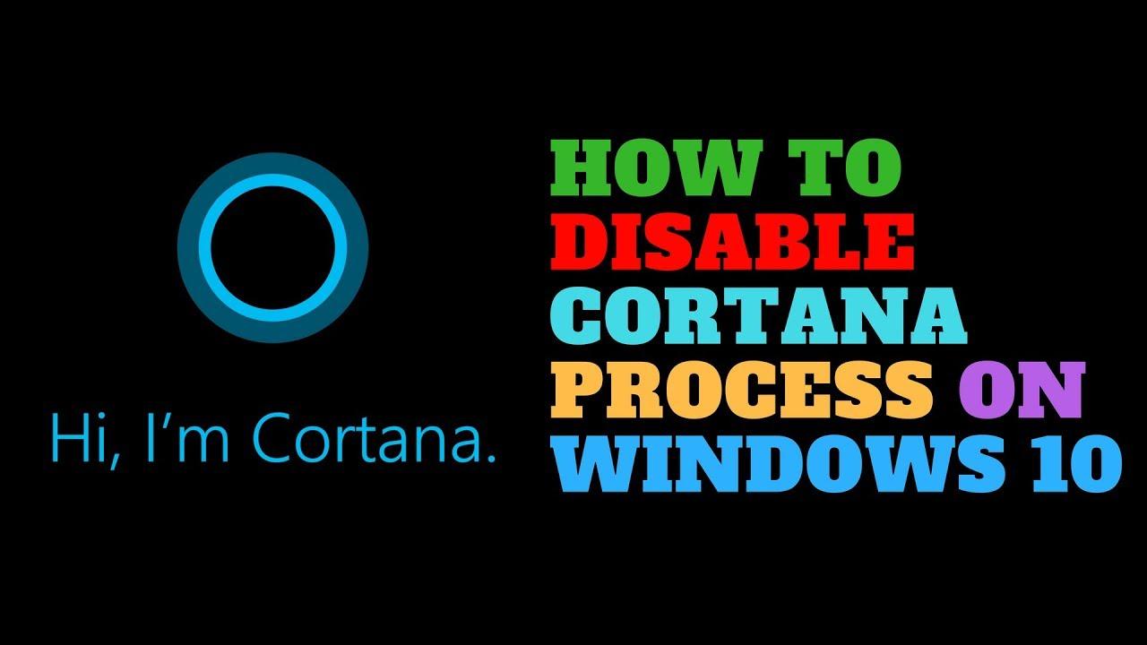 disable windows cortana search