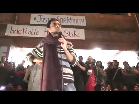 Exclusive Release, Umar Khalid Speech on 22 feb,2016 || Umar Khalid enters JNU, addressing students