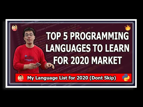 Top 5 programming languages to learn in 2020 thumbnail