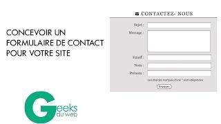 formulaire de contact pour son site Insertion en base de données avec PHP et MySQL