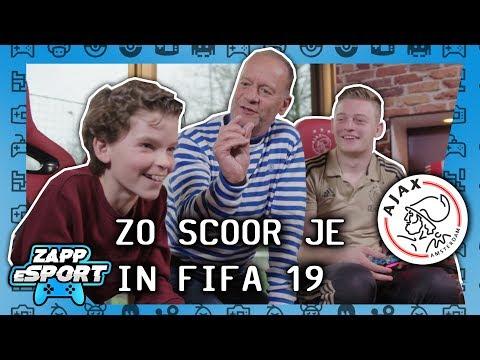 OP BEZOEK BIJ AJAX: DANI GEEFT TIPS VOOR DE PERFECTE VRIJE TRAP IN FIFA 19 | ZAPPESPORT