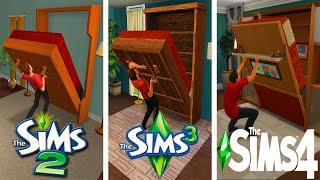 ♦ Sims 2 vs Sims 3 vs Sims 4 : Murphy Bed - Mini Evolution