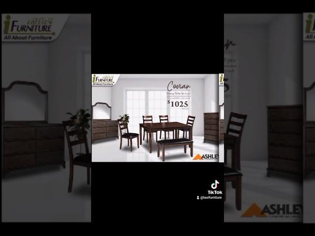 ເລືອກໂຕະກິນເຂົ້າທີ່ທ່ານມັກ ກັບຊຸດໂຕະກິນເຂົ້າສຸດພຣີມ່ຽມຈາກ Ashley Furniture