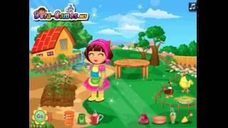 Мультик игра Даша работает на ферме (Dora at the Farm)