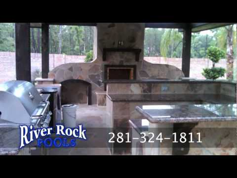 River Rock Pools Outdoor Kitchens and Backyard Kitchens Kingwood Houston Texas
