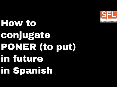 GCSE Spanish - How to conjugate PONER (to put) in the future tense in Spanish