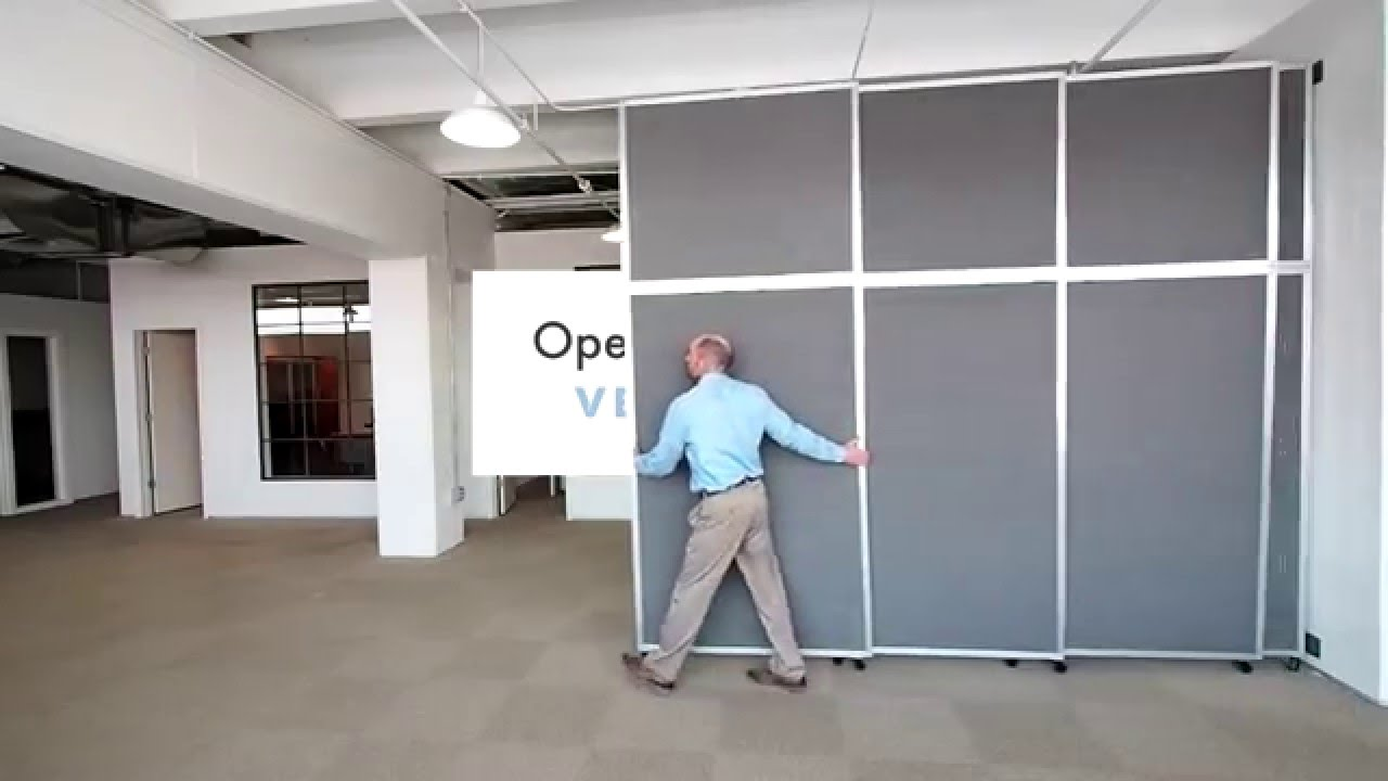 Versare Operable Wall Sliding Room Divider - YouTube