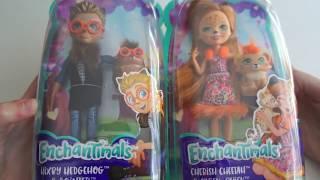 Mattel Enchantimals Кукла с любимой зверюшкой - Чериш Гепарди и Хиксби ежик