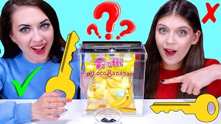 ASMR Open The Box Food Challenge | Eating Sounds LiLiBu