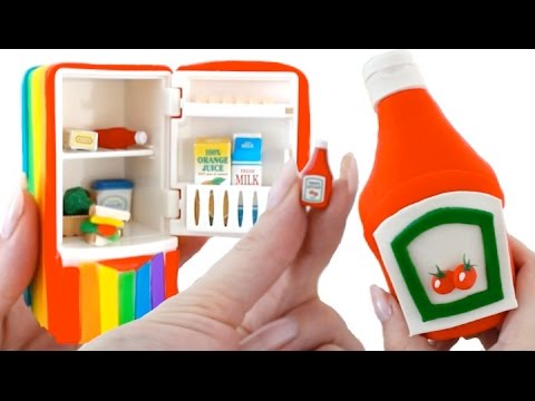 Learn Sizes Big & Small and Words with Play Doh Food RainbowLearning