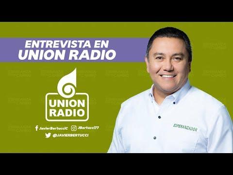 Entrevista en Union Radio con el candidato Javier Bertucci