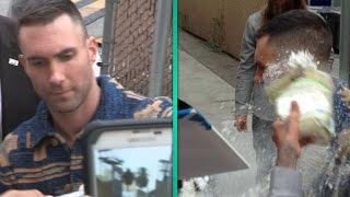Adam Levine Sugar-Bombed Outside 'Jimmy Kimmel Live'