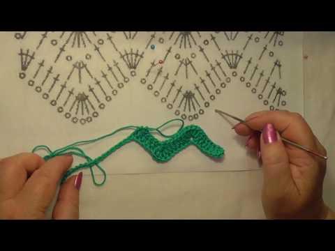 Вязание крючком зигзагом видео
