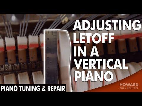 Piano Tuning & Repair - Adjusting Letoff in a Vertical Piano