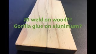 Gluing wood to aluminum: 4 common glues tested