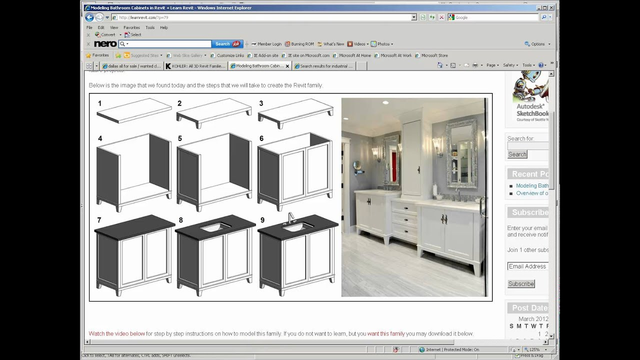 Modeling a center cabinet in Revit - YouTube