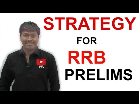 STRATEGY for RRB Prelims 2016( Night class Day #33)