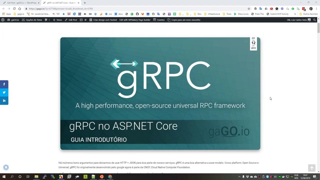 gRPC - Guia Introdutório - Sobre o post