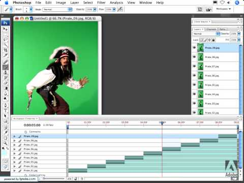 Working with image sequences- video- Photoshop Tutorials