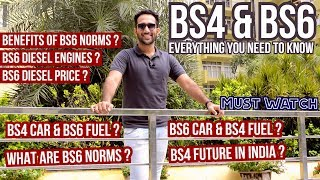 What are BS6 Norms? Buy BS4 or wait? GST on Cars? BS4 & BS6 Fuel? BS4 Future India? Benefits of BS6?