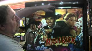 Sega MAVERICK Pinball Machine with LED