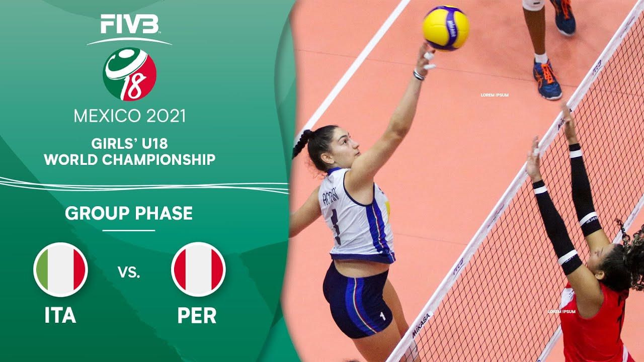 Download LIVE 🔴 ITA vs. PER - Group Phase | Girls U18 Volleyball World Champs 2021
