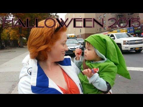 Baby Aurora 1yo as Zelda's Link on Halloween 2015