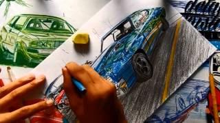 DRAWING CAR |Desenhando Carro -Chevrolet Chevelle 1970 SS L.A Design Crew