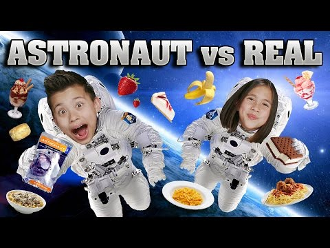 Thumbnail: ASTRONAUT FOOD vs. REAL FOOD CHALLENGE!!! Outer Space Taste Test!
