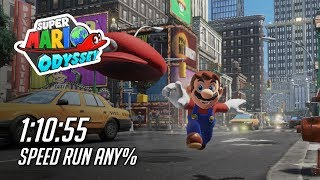 Super Mario Odyssey any% speedrun 1:10:55 by mistermv