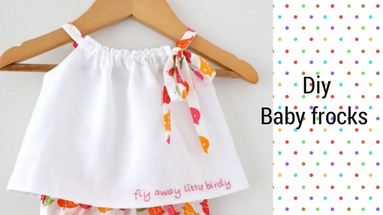 66d4ed16d Latest and new easy summer baby frocks design easy to make at home ...