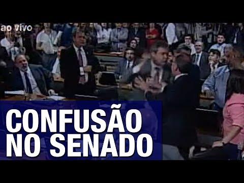'Bancada da chupeta' inicia confusão e quase começa pancadaria em pleno Senado; veja vídeo