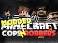 Minecraft Modded Cops and Robbers 1 - SMART MOVING MOD (Bodil40, Mitch, Vikk and Woofless)