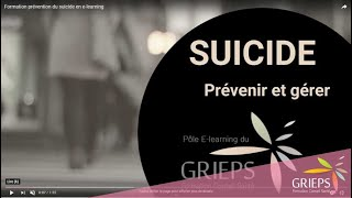 Formation prévention du suicide en e-learning