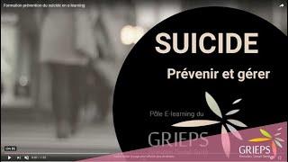 Formation prévention du suicide en e-learning