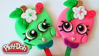 Shopkins Apple Blossom Popsicle DIY Play-Doh Recipe How To Make Play Dough Ice Cream - CLAY ART TV
