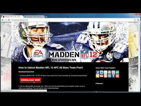 how-to-get-madden-nfl-12-afc-all-stars-team-free---xbox-360-and-ps3!!