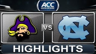 2013 ACC Football Highlights | East Carolina vs North Carolina | ACCDigitalNetwork