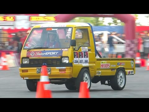 Mobil Pick Up Drift - Jogja Intersport Lead For Speed (Gymkhana Slalom Car Racing Indonesia)