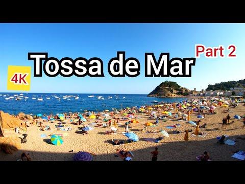 ⁴ᴷ TOSSA DE MAR Walking Tour 🇪🇸 Costa Brava, Catalonia, Spain (part 2) 4K