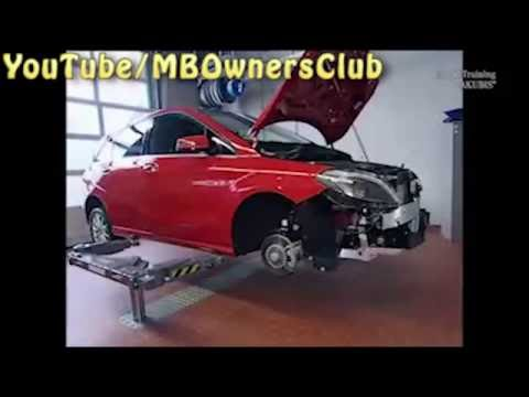 Mercedes Benz - Engine removal (B Class)