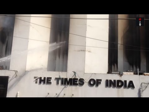 Fire Rages On At Times Of India Building In Delhi