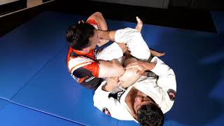Joey Hauss of the Los Angeles Jiujitsu Club shows his crossover exp...