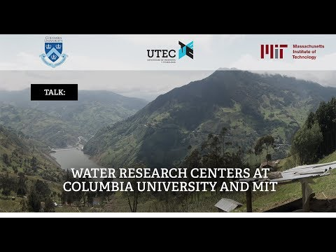 Water research centers at Columbia University and MIT (2-2)