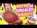 HUEVO GIGANTE DE CHOCOLATE - COMO HACER TU PROPIO KINDER SORPRESA EN CASA - COOKING con Sandra