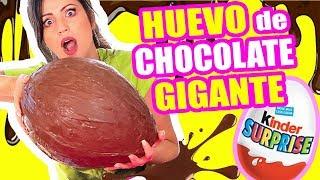 HUEVO GIGANTE DE CHOCOLATE - COMO HACER TU PROPIO KINDER SORPRESA EN CASA - COOKING con Sandra thumbnail