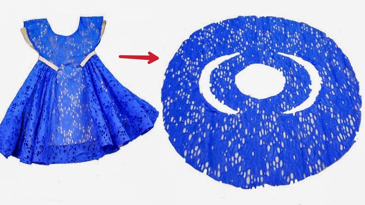 اسهل خياطة فستان بفكره جديده ومذهله /  أحدث خياطة فستان طفلة بكل بساطة